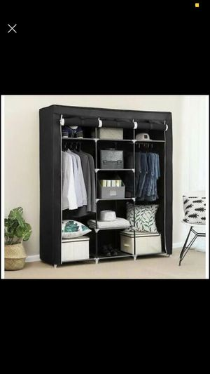 "Portable Closet Wardrobe 69"" Clothes Storage Space Organizer Fabric Dresser Zipper Desk Walk In for Sale in Los Angeles, CA"