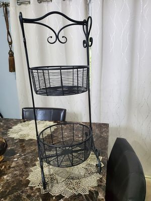 Two Layer Iron Wrought Intricate Baskets for Sale in Orlando, FL