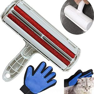 Dog Hair Remover Roller & Pet Grooming Glove, Pet Grooming Kit Gentle Deshedding Brush Glove Efficient Pet Hair Remover Mitt for Sale in Houston, TX