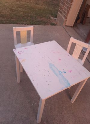IKEA kids table and two chairs for Sale in Dallas, TX