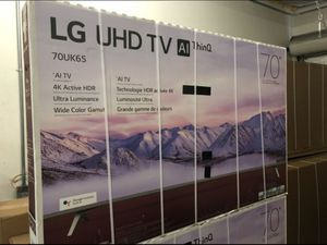 """70"""" LG 70UK6570 4K UHD HDR SMART TV 2160P (FREE DELIVERY) for Sale in Tacoma, WA"""