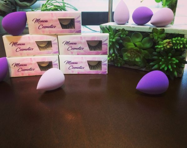 Monoa Lashes and Beauty Blender each item sold separately