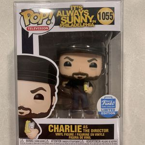 Charlie as Director *MINT* Funko Pop Shop Exclusive Always Sunny In Philadelphia Nightman Cometh 1055 with Protector Dayman Kelly for Sale in Lewisville, TX