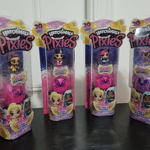 HATCHIMALS Mini Pixies Mystery DOLL 2 PACK JUMBO WINGS Firefly Butterfly for Sale in West Palm Beach, FL