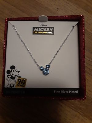 Silver plated Mickey mouse ears necklace for Sale in Davie, FL
