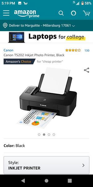 Canon PIXMA ts202 printer for Sale in Millersburg, PA