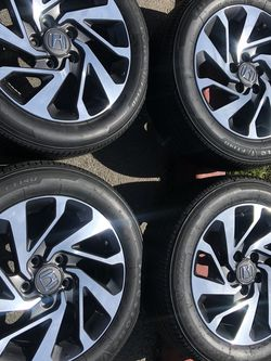 Rims Tires16 5x114.3 OEM Honda Civic Accord Crv No Scratches Like New Condition for Sale in Santa Ana,  CA