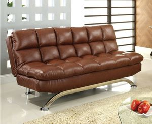 Saddle pillowtop adjustable futon sofa bed couch for Sale in Downey, CA