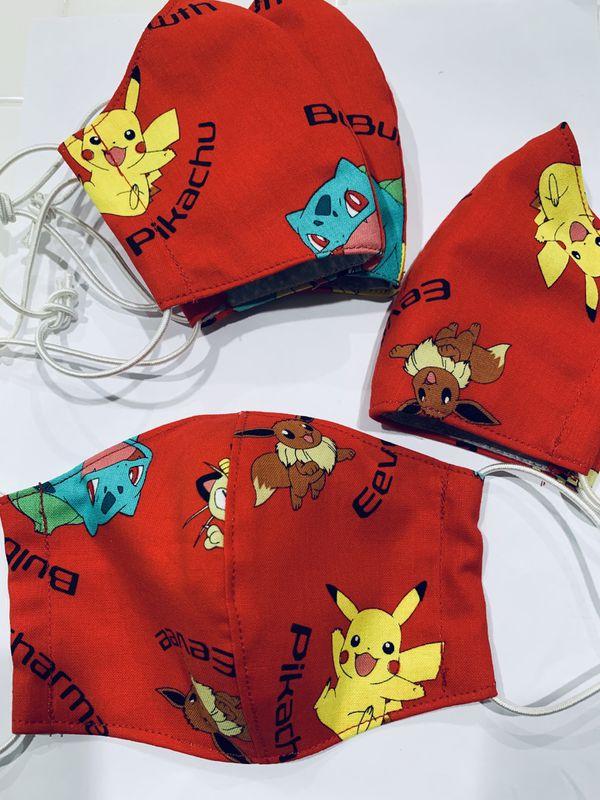 Pokemon Fabric Kids size Face Mask