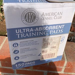 Box Of Dog Puppy Training Pads - Box Is 3/4 Full for Sale in Glendale, CA