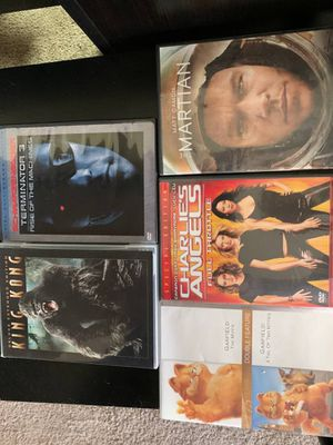 Five Movies DVDs King Kong Garfield The Martian etc for Sale in Taylorsville, UT