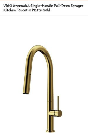 New VIGO Greenwich Single Handle Kitchen Faucet, Retail $189!!!! - $95 for Sale in Chicago, IL