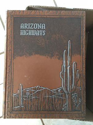 Arizona highways leather bound magazines for Sale in Fort McDowell, AZ