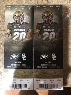 CU buffs tickets vs USC for Sale in Loveland, CO