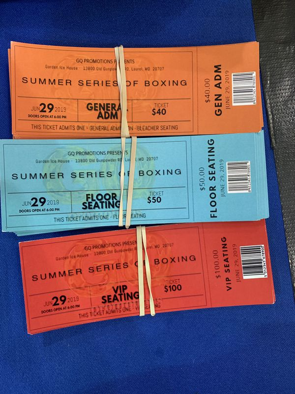 Professional boxing tickets