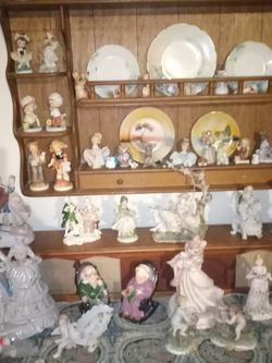 Lots Of Old Porcelain Dolls Figurines And Cabinet And Other Ones I Got for Sale in Indio,  CA