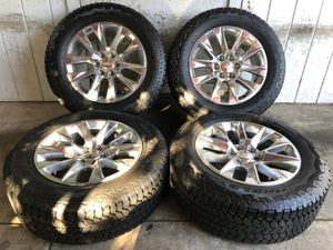 "2019 Chevy Tahoe Suburban Silverado 20"" Wheels Rims Tires 275/60/20 NEW for Sale in Santa Ana, CA"