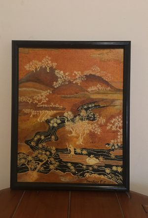 Vintage Oriental Panorama #55 Painting on Fredrix Canvas for Sale in West Palm Beach, FL