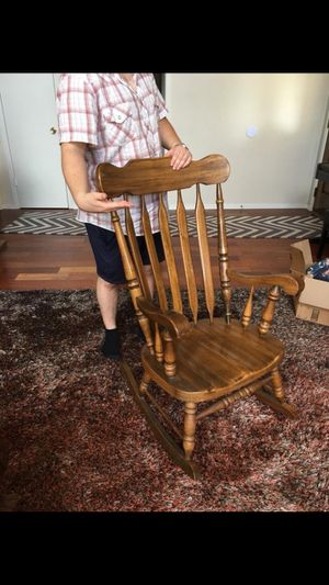 Antique rocking chair plus cushion for Sale in Austin, TX