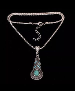 Tibetan Silver Blue Turquoise Necklace for Sale in Boston, MA