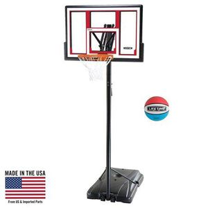 LIFETIME ADJUSTABLE PORTABLE BASKETBALL HOOP (RUBBER BASKETBALL INCLUDED) for Sale in Redford Charter Township, MI