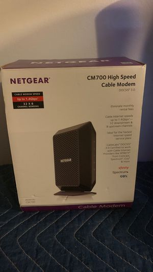 Net Gear CM 700 high speed cable modem. for Sale in Burbank, CA