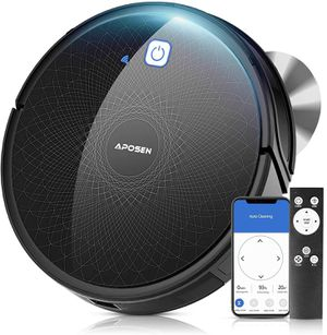 APOSEN Robot Vacuum,Wi-Fi Connected, 2100Pa Robotic Vacuum Cleaner Works with Alexa, Ideal for Pet Hair, Hardwood Floors, Thick Carpet, Self-Charging for Sale in New York, NY