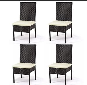 5 Piece Outdoor Garden Patio Rattan Chair Dining Furniture for Sale in Los Angeles, CA