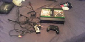 I'm selling my Xbox One Wii Call of Duty Black Ops and Grand Theft Auto V plus six different games onto one remote only and it comes whi headphones for Sale in New Haven, CT