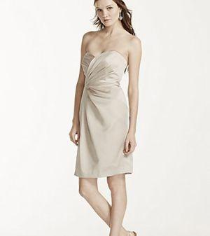 1d0f96b1043 David s Bridal Short Strapless Dress in Champagne for Sale in Santa Ana