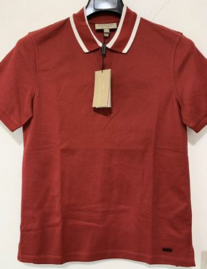 NWT Burberry London Logo Icon Detail Polo Shirt Cotton Fit Red Size S $425 for Sale in Los Angeles, CA