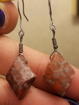Diamond cut wire wrapped stone earrings for Sale in Cleveland, OH
