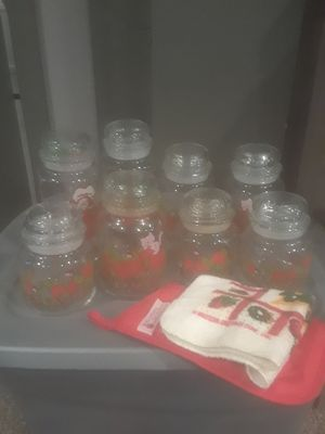Strawberry shortcake glass jars 1980 for Sale in Indianapolis, IN