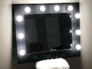 Black Makeup Vanity Mirror LED lights for Sale in Houston, TX