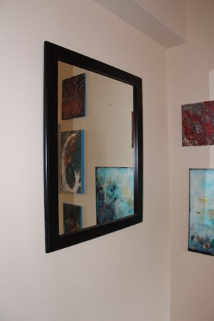Mirror, Wall Hanging, Black for Sale in Washington, DC