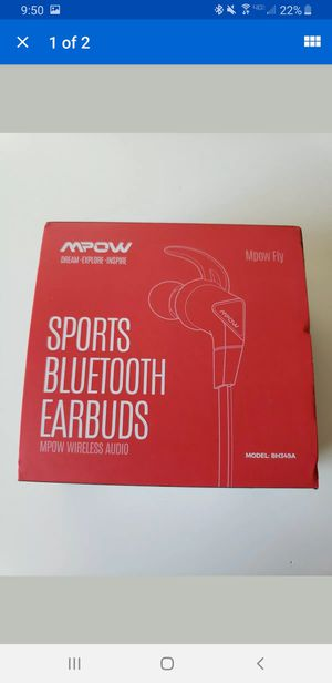 Mpow Fly Headphones Sport Bluetooth 5.0 IPX7 Hifi Earphones Earbuds Headphones for Sale in Las Vegas, NV