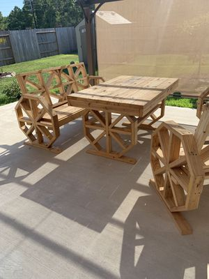 Handmade Wood Outdoor Furniture for Sale in Humble, TX