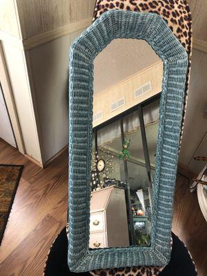 """Vintage wicker wall mirror 28"""" x 12"""" for Sale in Sebastian, FL"""