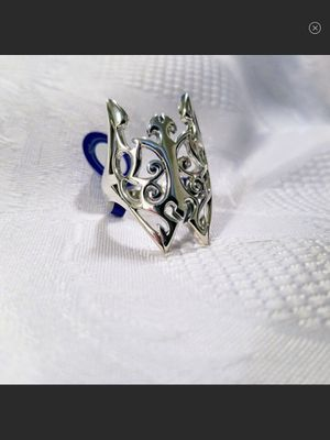 "NWT ""Fly Butterfly Fly"" Gothic Style Sterling Silver Large Elongated Statement Ring Size 9 for Sale in Arbovale, WV"