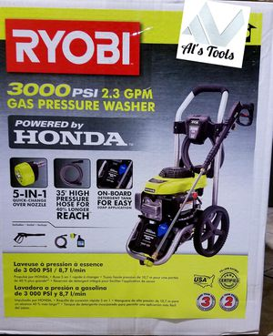 Ryobi 3000 psi gas pressure washer with Honda commercial engine brand new for Sale in Paramount, CA