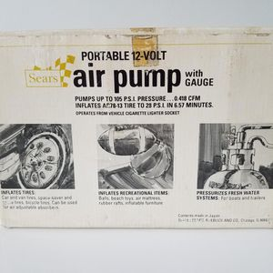 Sears 12V Air Pump for Sale in Wilmington, DE
