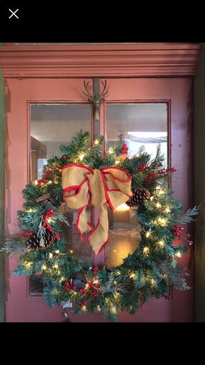 Christmas wreath vintage style for Sale in Burkittsville, MD