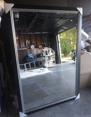 Huge black finish mirror for Sale in Eastvale, CA