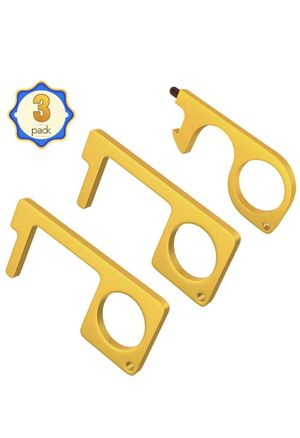 No Touch Door Opener Tool-Contactless Door Opener Hands Free Brass Door Opener, Safe Touch Tool for Handles Buttons Touchscreens and More, EDC Keycha for Sale in Monterey Park, CA