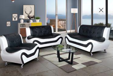 New Black & White Sofa set 3pc for Sale in Kent,  WA