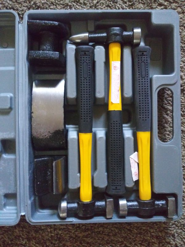 Hammer tool and dolly set 7pc