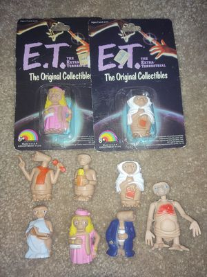 Vintage 1980's E.T. Toy Figures for Sale in Puyallup, WA