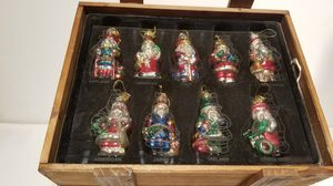 Christmas Ornaments Thomas Pacconi 2002 Collection Glass Santa's From Around The world Ornaments for Sale in Phoenix, AZ