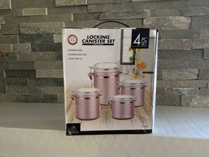 CHEFS COUNTER LOCKING CANISTER SET ROSEGOLD for Sale in Chula Vista, CA