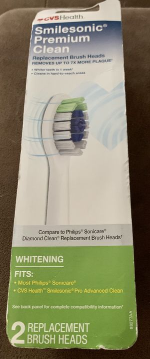 Smilesonic replacement toothbrush heads 2 pack for Sale in Simpsonville, SC